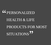 Personalized health & life products for most situations